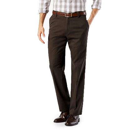 Dockers Men's Straight Fit Easy Khaki with Stretch Pants D2, 33 30, Brown
