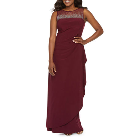 Scarlett Sleeveless Embellished Evening Gown, 14 , Purple