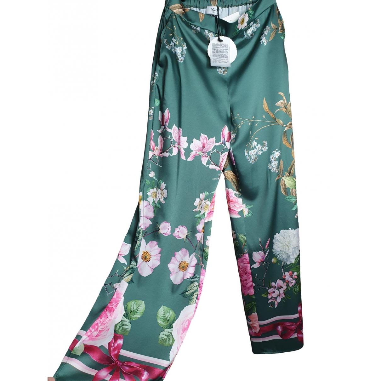 Blumarine \N Multicolour Silk Trousers for Women S International