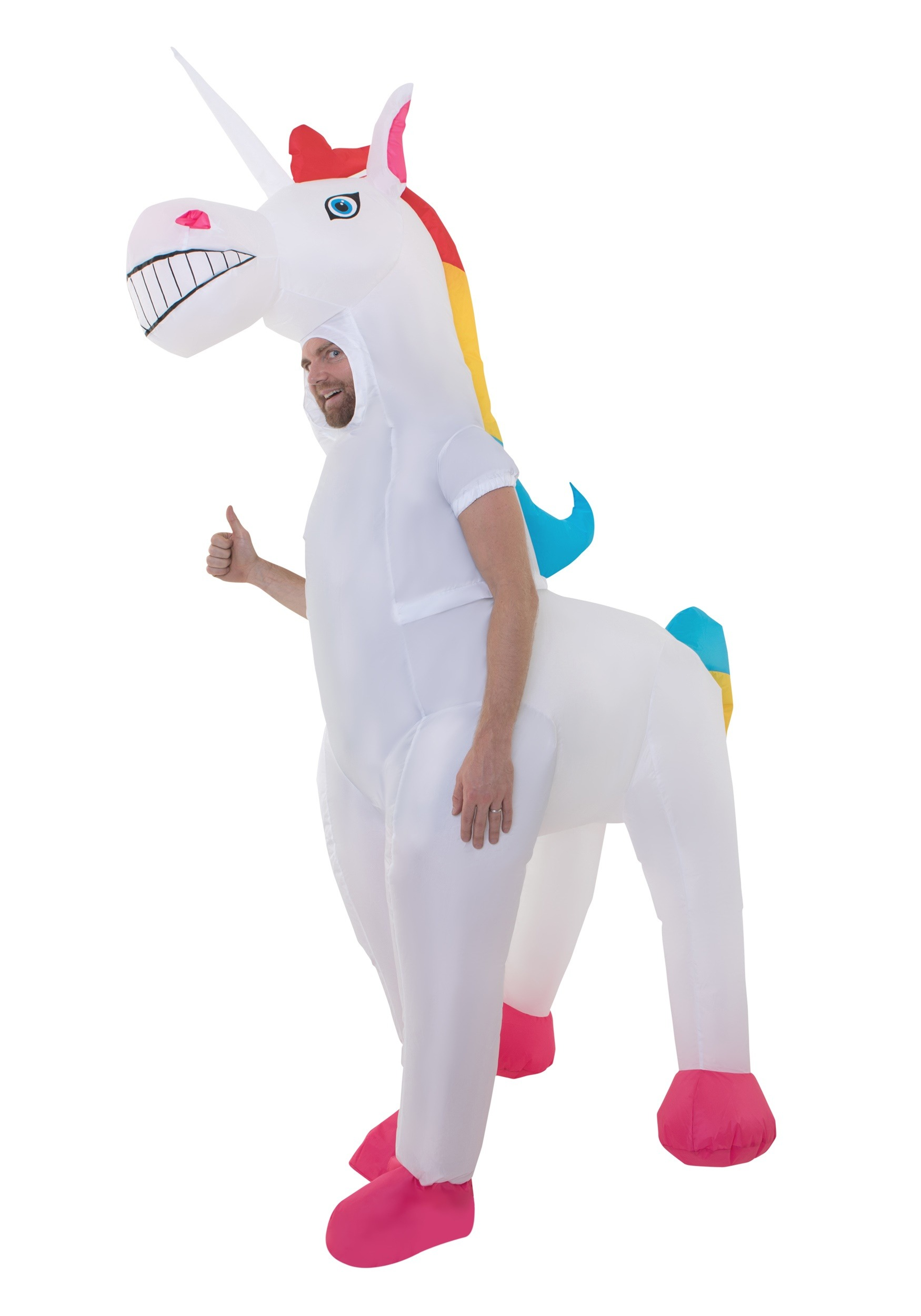 Giant Inflatable Unicorn Adult Costume