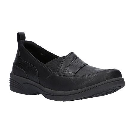 Easy Street Womens Fernly Slip-On Shoe, 11 Medium, Black