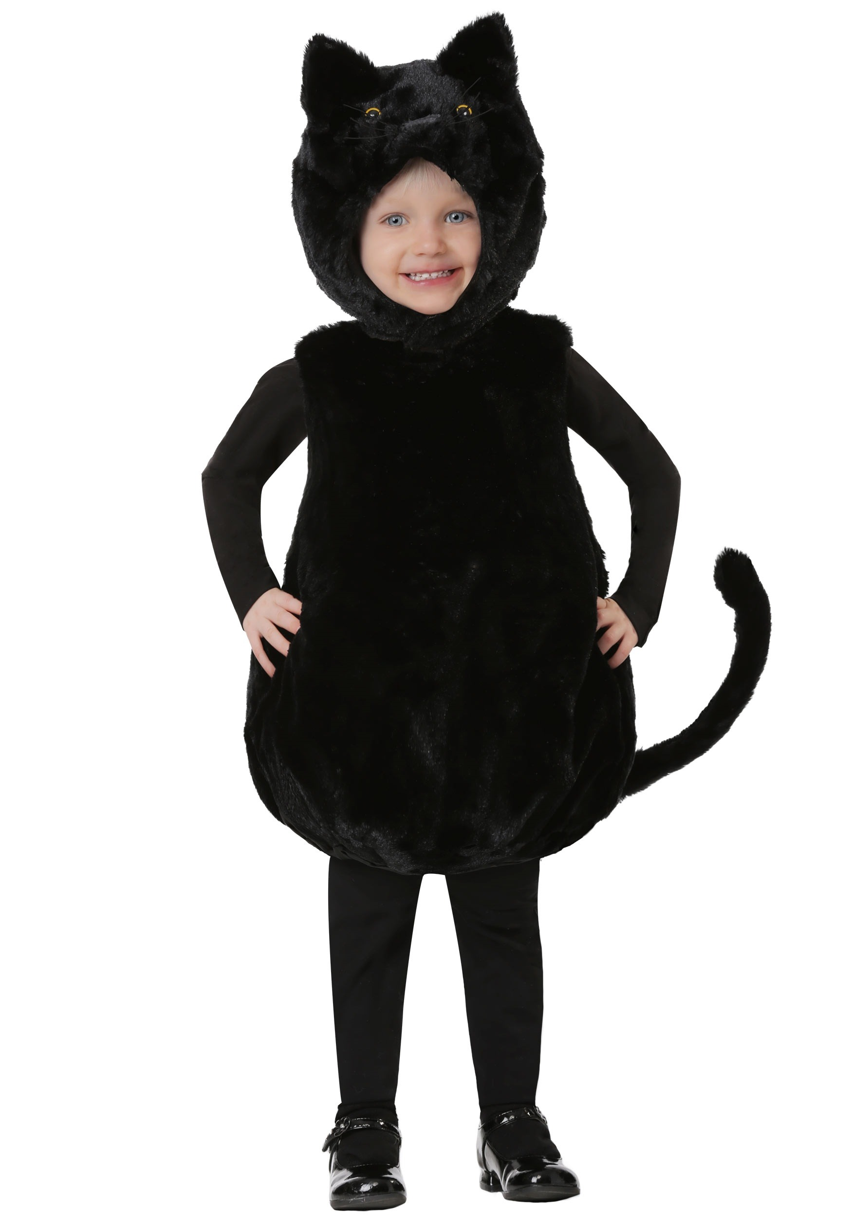 Bubble Body Black Kitty Costume for a Toddler