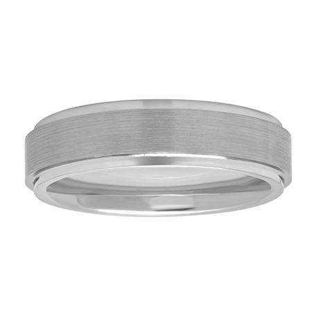 6MM Tungsten Wedding Band, 10 1/2 , No Color Family