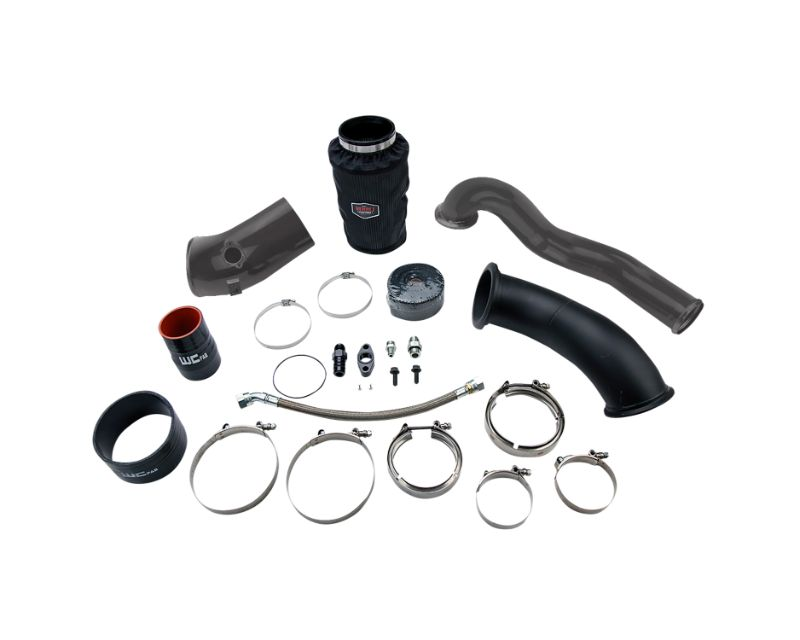 WCFab 2007.5-2009 6.7 Cummins S400 Turbo High Mount 2nd Gen Swap Kit Red Two Stage Powder Coating