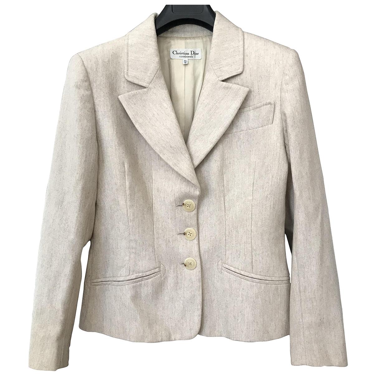 Dior \N Beige Wool jacket for Women 44 IT