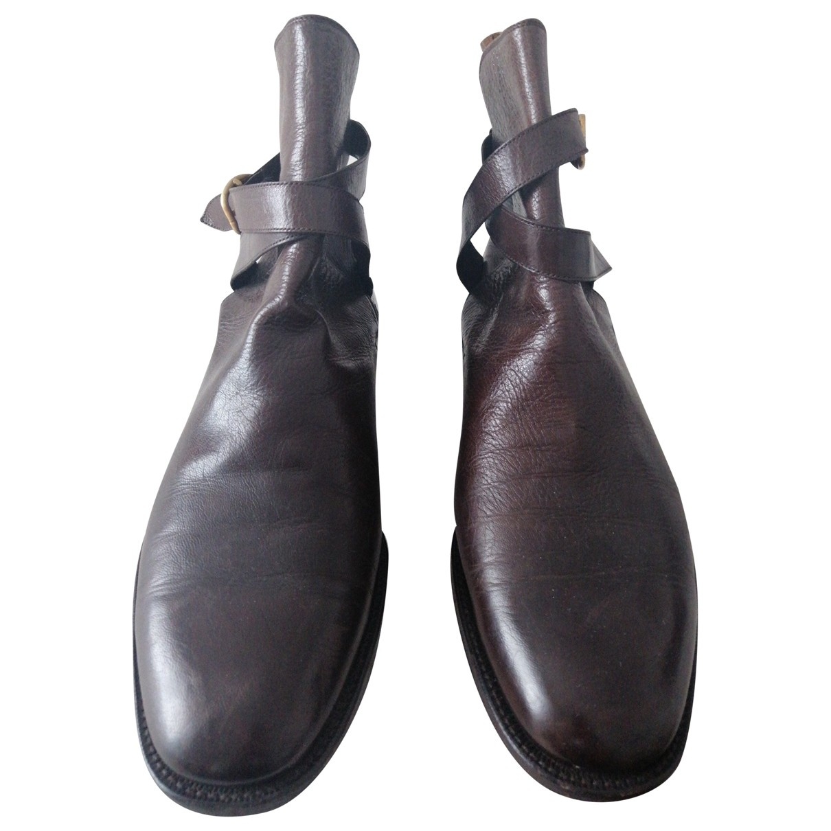 Non Sign?? / Unsigned \N Brown Leather Boots for Men 8 UK
