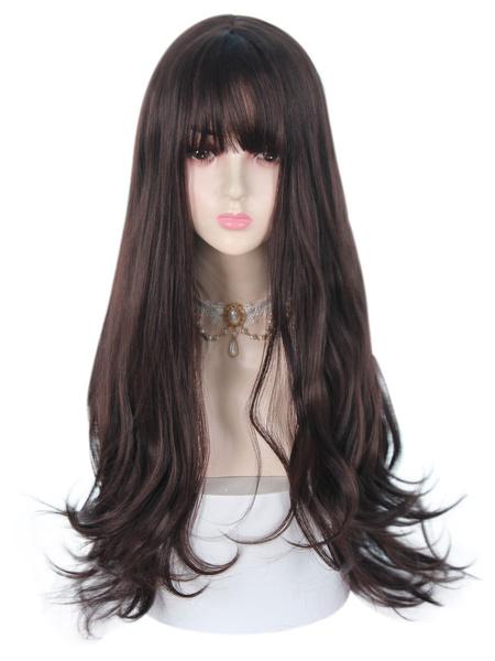 Milanoo Sweet Lolita Wigs Tan 66cm-95cm Heat-resistant Fiber Lolita Accessories