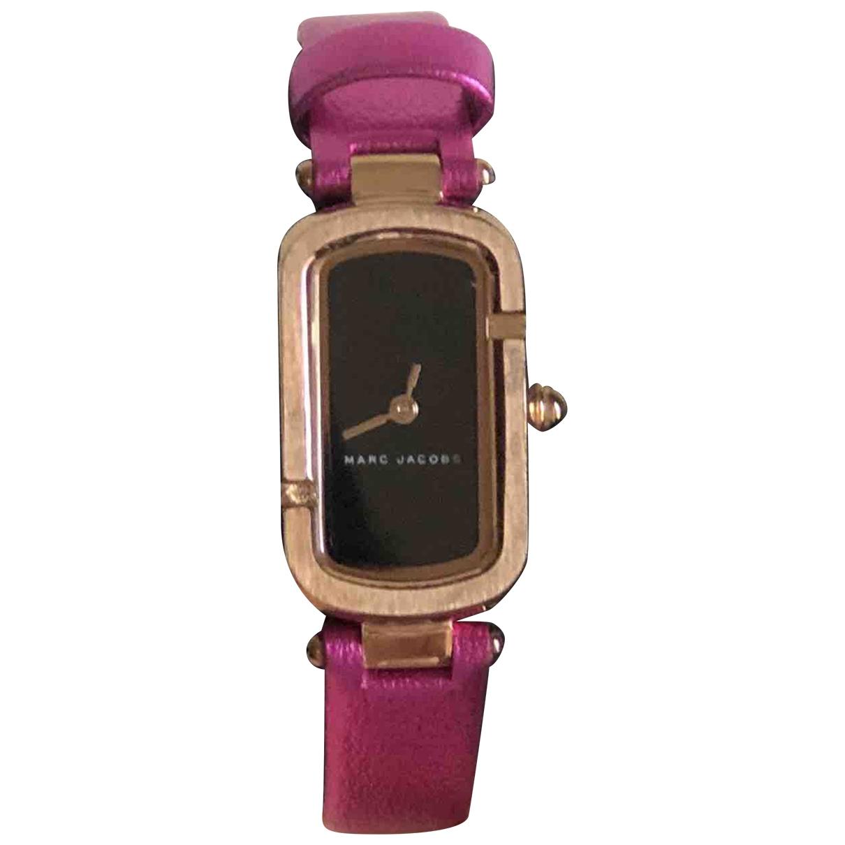 Marc By Marc Jacobs \N Pink Steel watch for Women \N