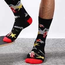 Men Robot Pattern Socks