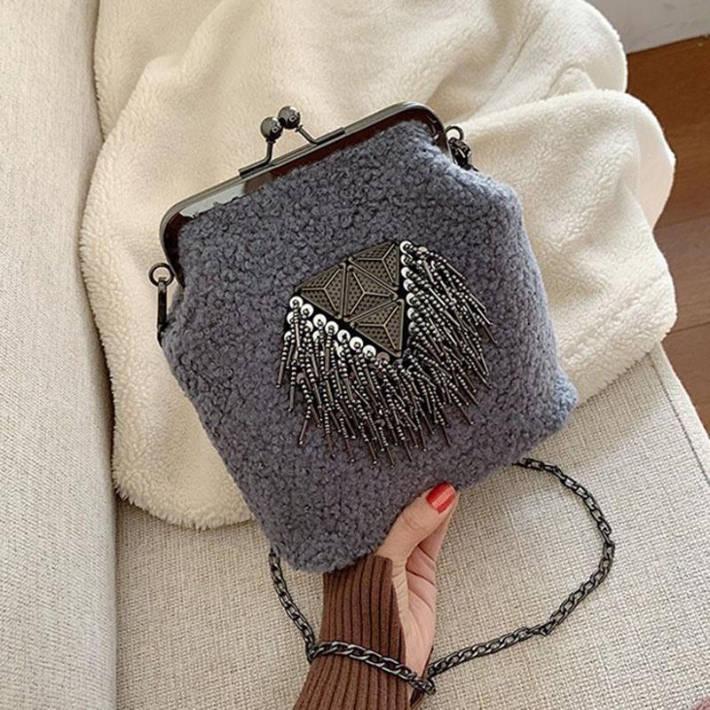 Ericdress Chain Plain Rectangle Women's Crossbody Bags