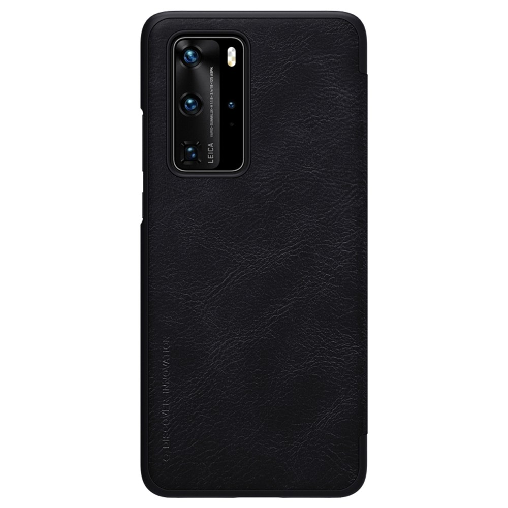 NILLKIN Protective Leather Phone Case For HUAWEI P40 Pro Smartphone - Black
