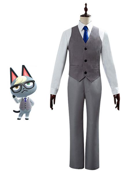 Milanoo Animal Crossing New Horizons Jyakku Jack Raymond Cosplay Costume