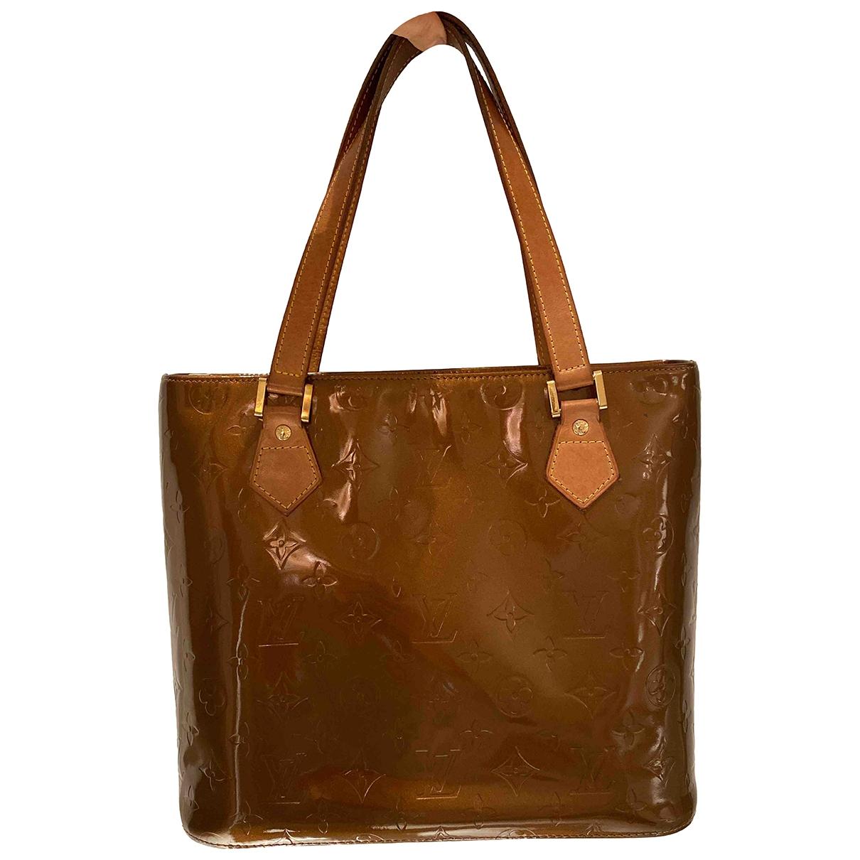 Louis Vuitton Houston Camel Patent leather handbag for Women \N