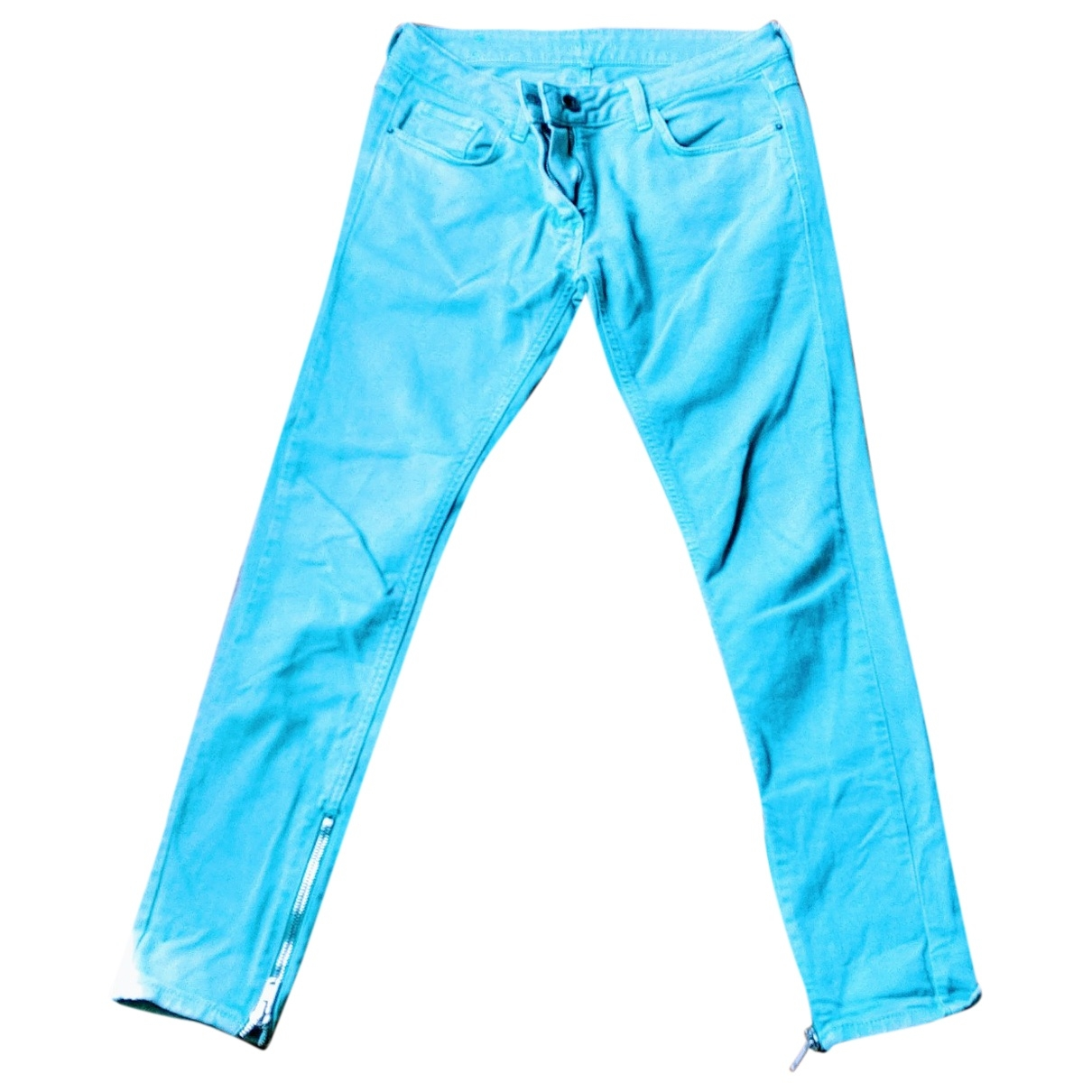 Sandro \N Turquoise Cotton Jeans for Women 38 FR