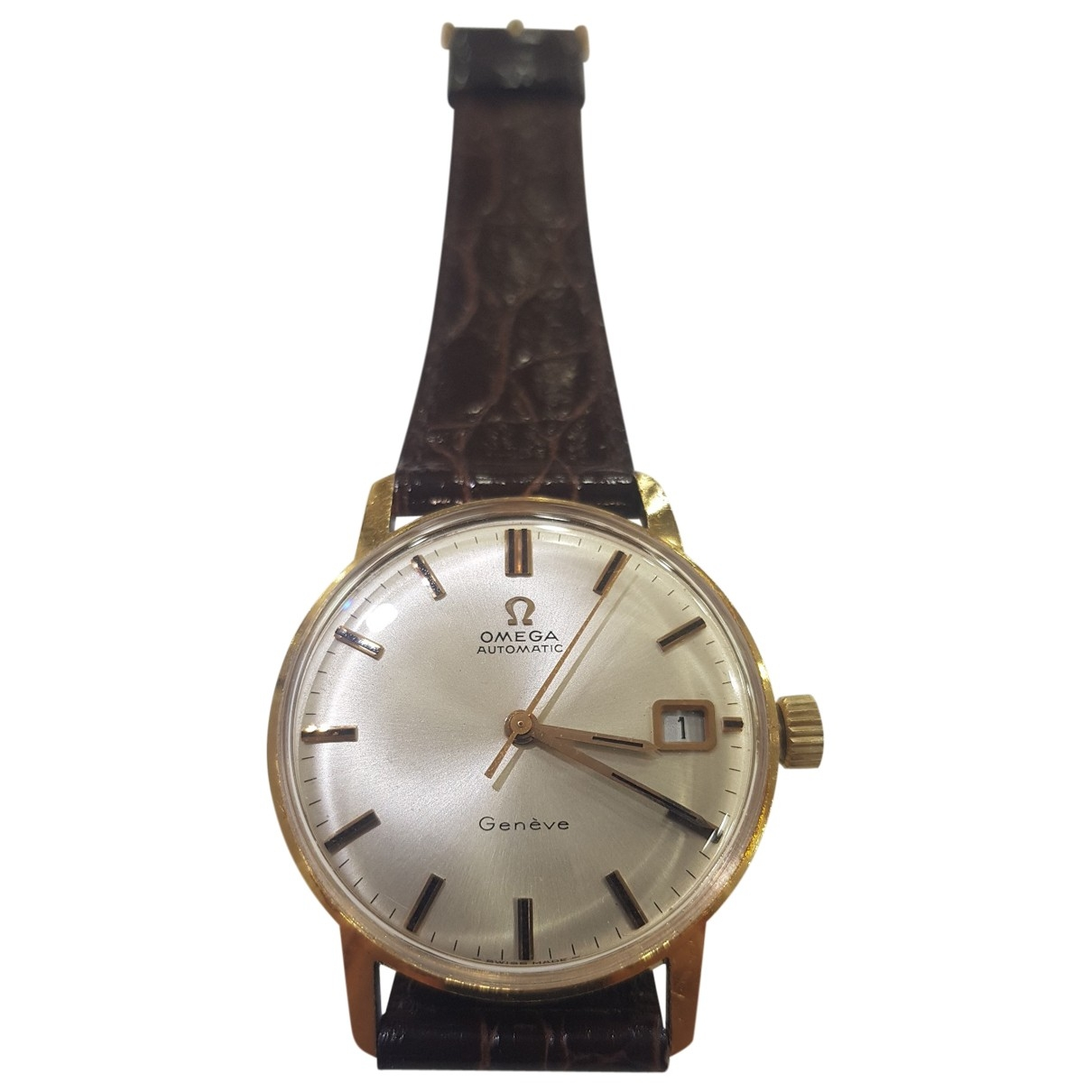 Omega Seamaster Beige Yellow gold watch for Men \N