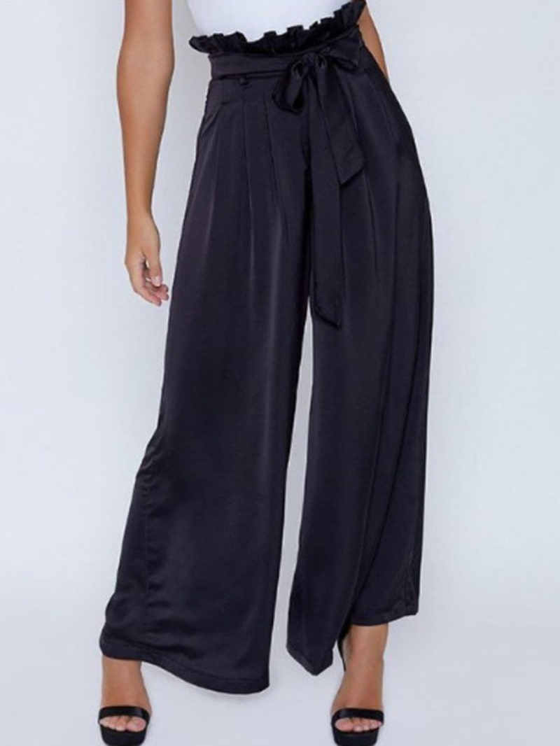 Ericdress Stringy Selvedge Loose Plain Wide Legs Casual Pants