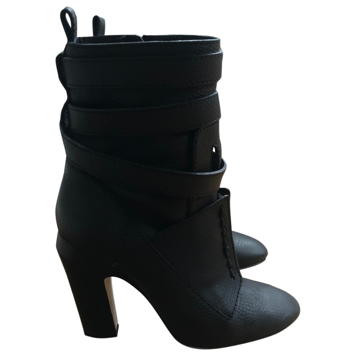 Fendi \N Blue Leather Boots for Women 38 EU