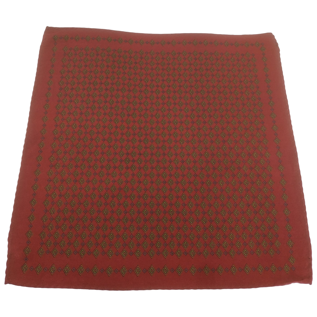 Non Signé / Unsigned \N Red Silk scarf & pocket squares for Men \N
