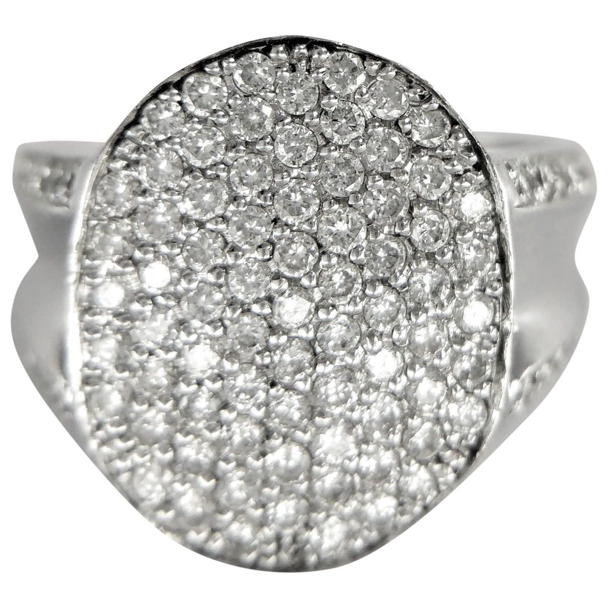 Non Signé / Unsigned \N Silver White gold ring for Women \N