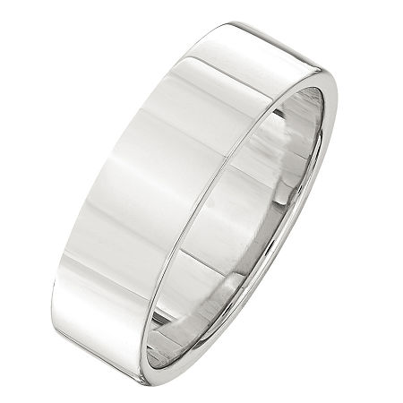 6MM Sterling Silver Wedding Band, 5 1/2 , No Color Family