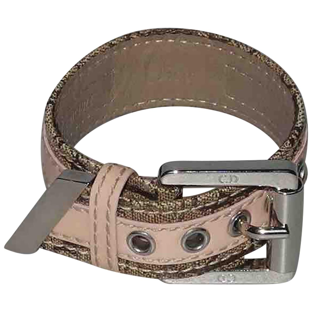 Dior \N Pink Leather bracelet for Women \N