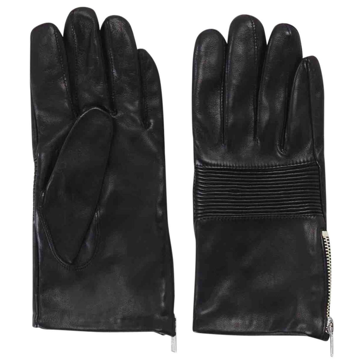 The Kooples \N Black Suede Gloves for Women XXS International