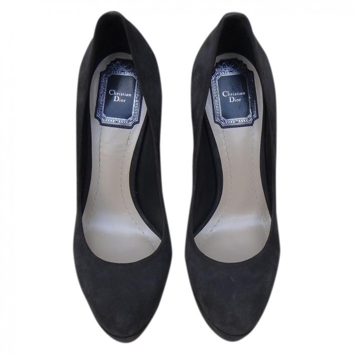 Dior \N Grey Leather Heels for Women 36 EU