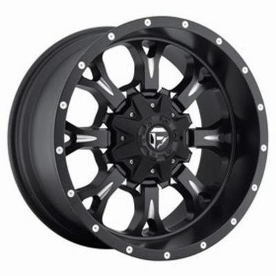 MHT Fuel Offroad D517 Krank, 20x9 Wheel with 5 on 150 and 5 on 5.5 Bolt Pattern - Matte Black Milled - D51720907057