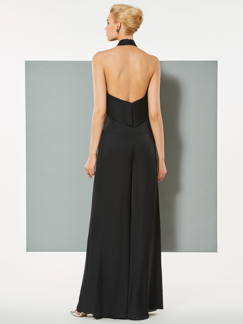 Ericdress Halter Backless Chiffon Long Prom Jumpsuit