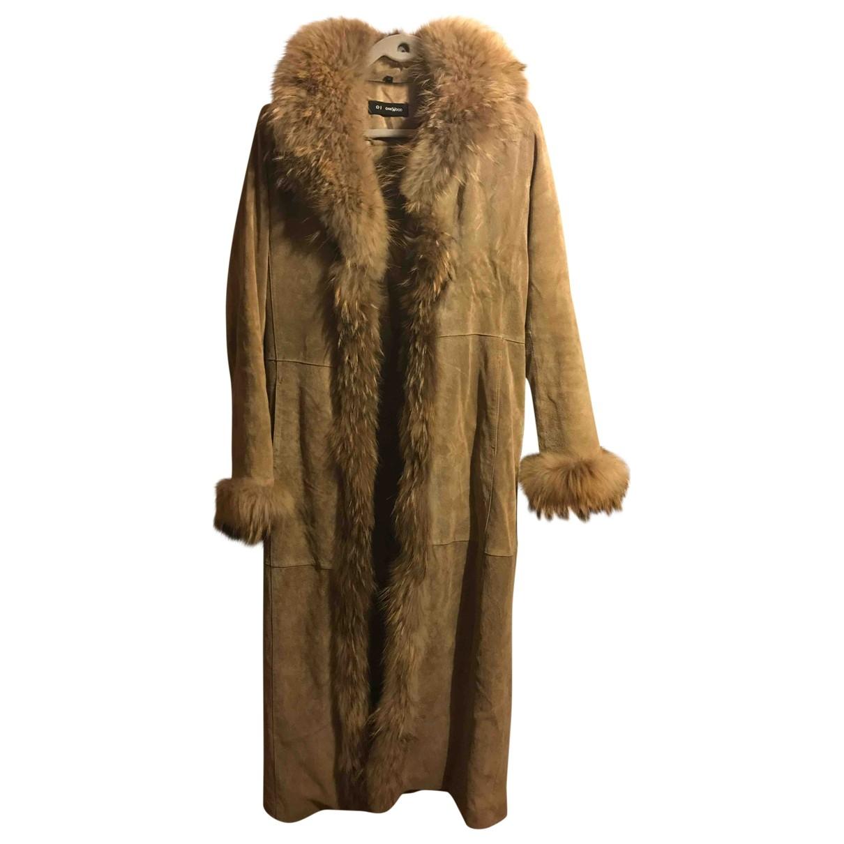Oakwood \N Beige Raccoon coat for Women 38 FR