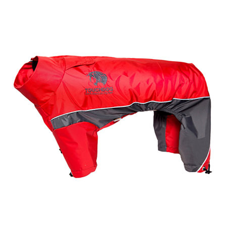 The Pet Life Touchdog Quantum-Ice Full-Bodied Adjustable and 3M Reflective Dog Jacket w/ BlacksharkTechnology, One Size , Red