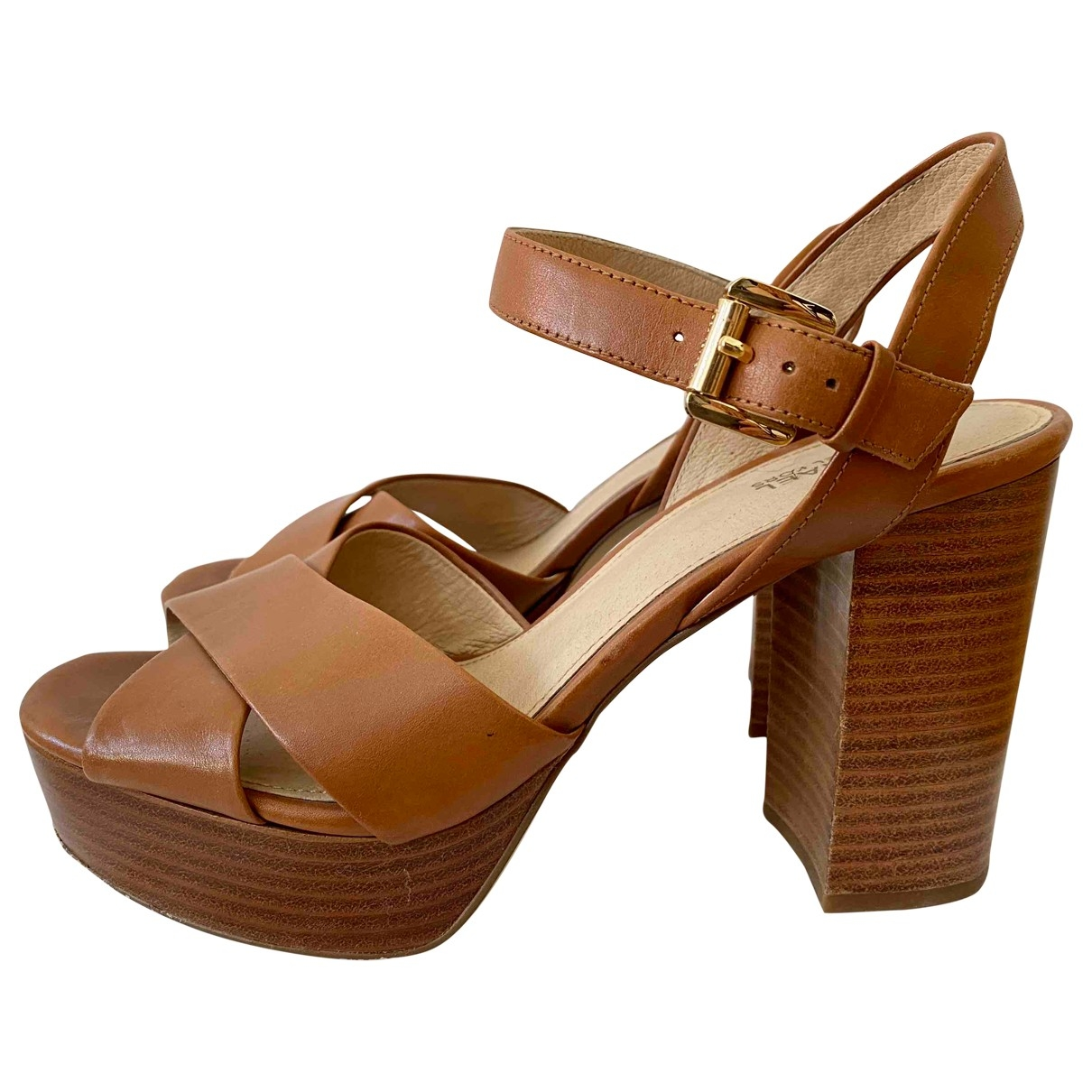 Michael Kors \N Brown Leather Sandals for Women 7 US