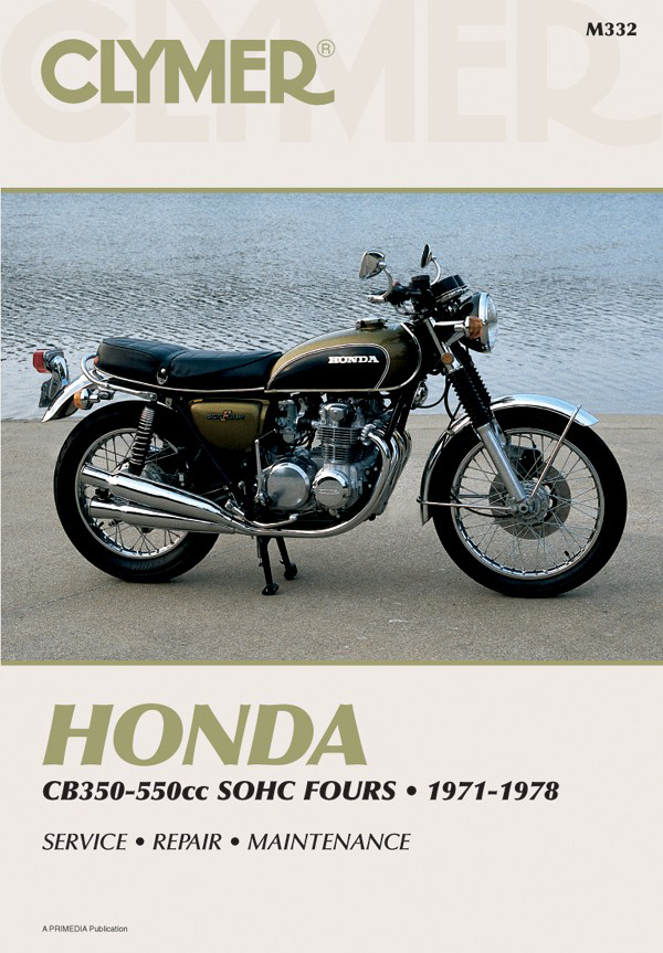 Honda CB350-550CC Sonic Fours Motorcycle, 1971-1978 Service Repair Manual