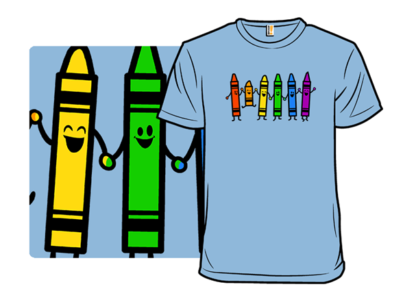 Colorful Friends T Shirt