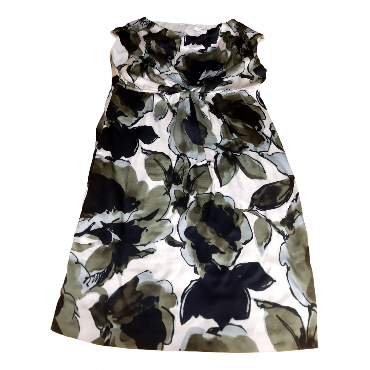 Max Mara \N Green Silk dress for Women 48 IT