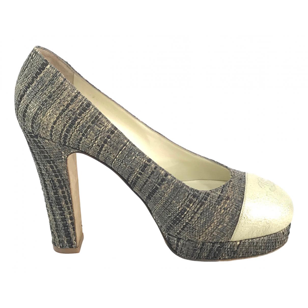 Chanel \N Beige Shearling Heels for Women 38.5 EU