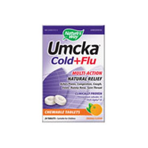 Umcka Cold & Flu Orange Chewable 20 CT by Nature's Way