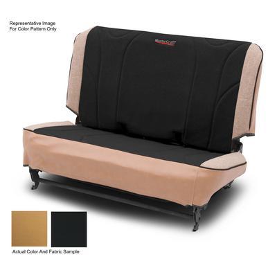 MasterCraft Safety Fold & Tumble Rear Seat Slip Cover, BRS Stitch (Tan/Black) - 702728