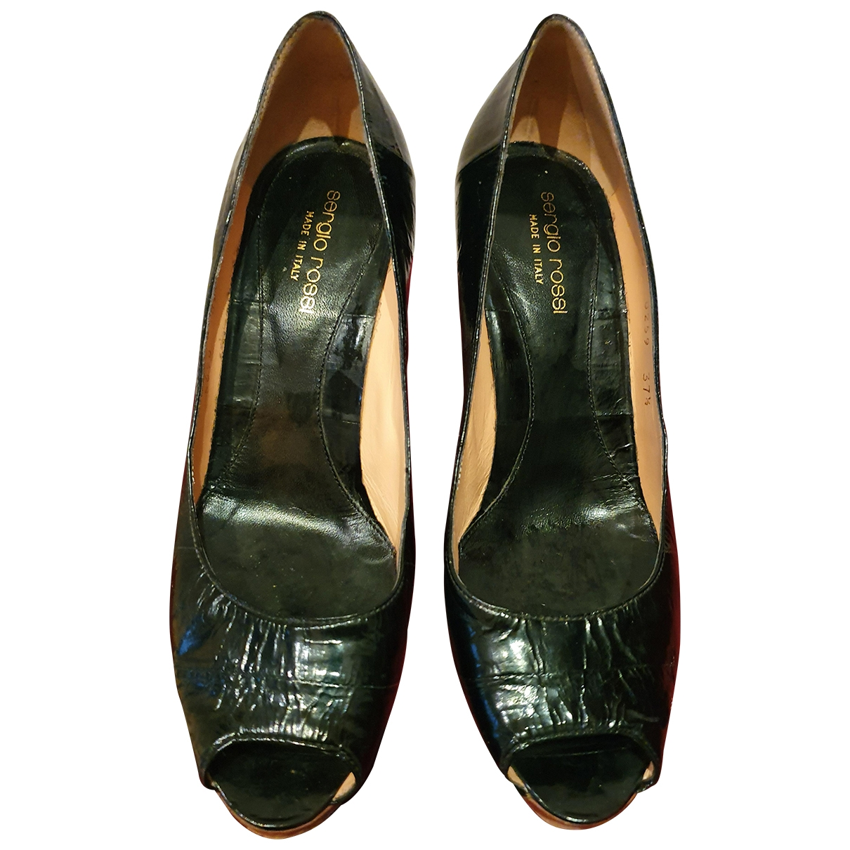 Sergio Rossi \N Black Leather Heels for Women 37.5 IT