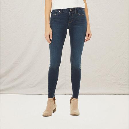 a.n.a-Tall Womens Skinny Jean, 10 Tall , Blue