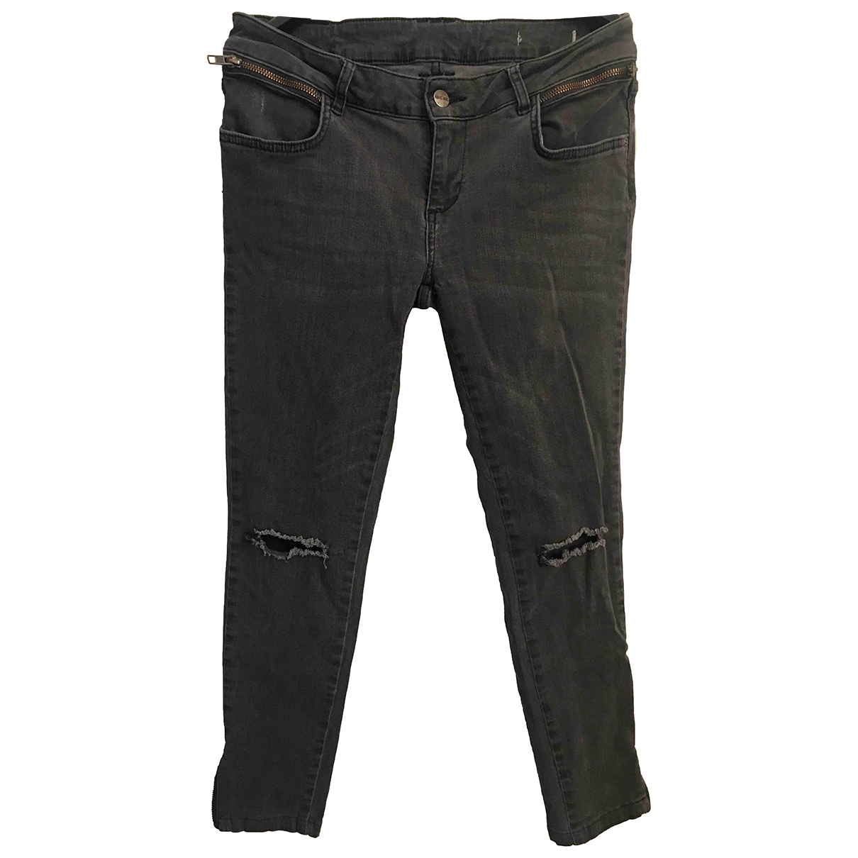 Anine Bing \N Anthracite Cotton - elasthane Jeans for Women 28 US