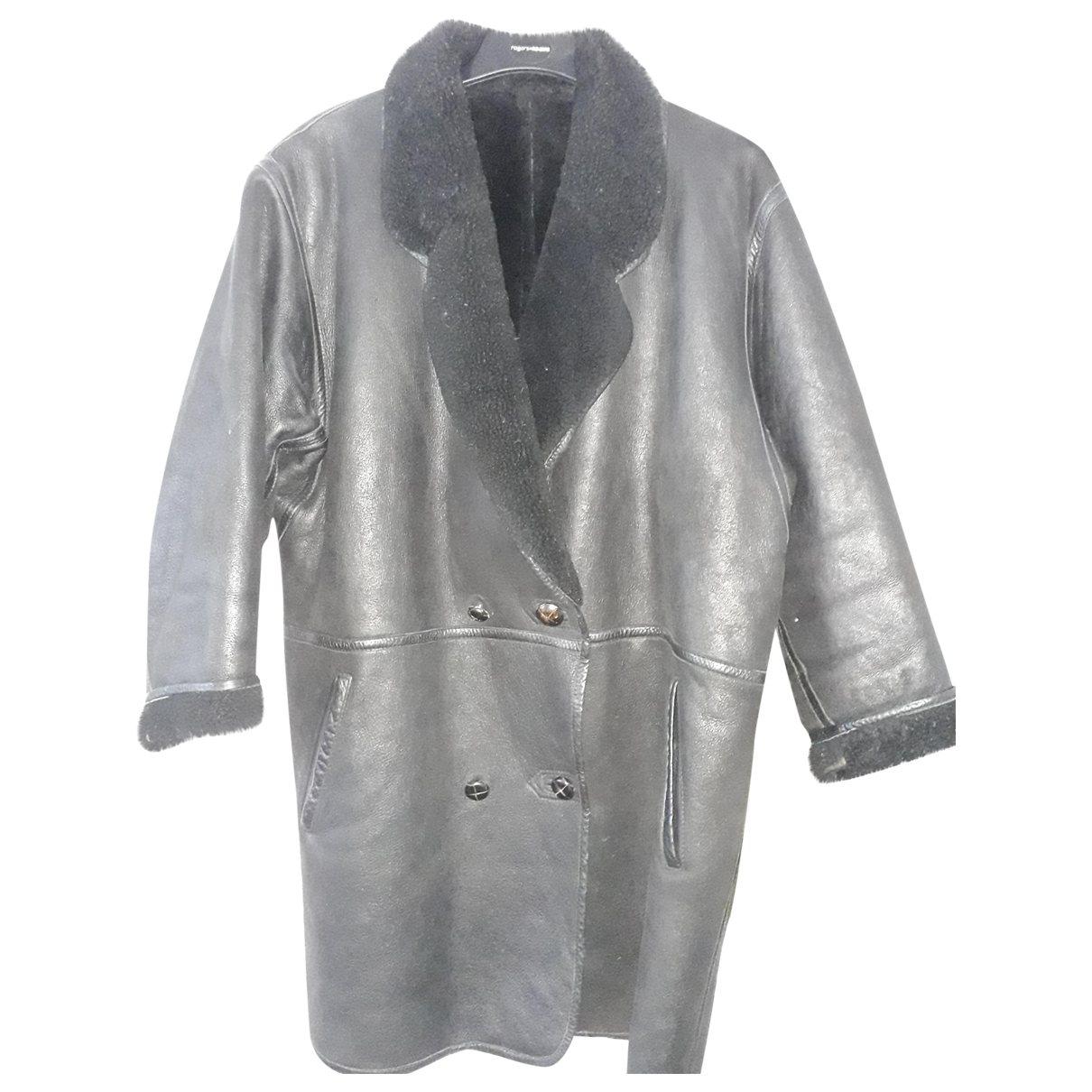 Kenzo \N Black Leather Leather jacket for Women 18-20 UK
