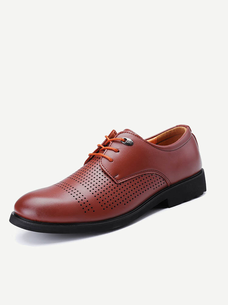 Large Size Men Hollow Out Breathable Business Casual Shoes