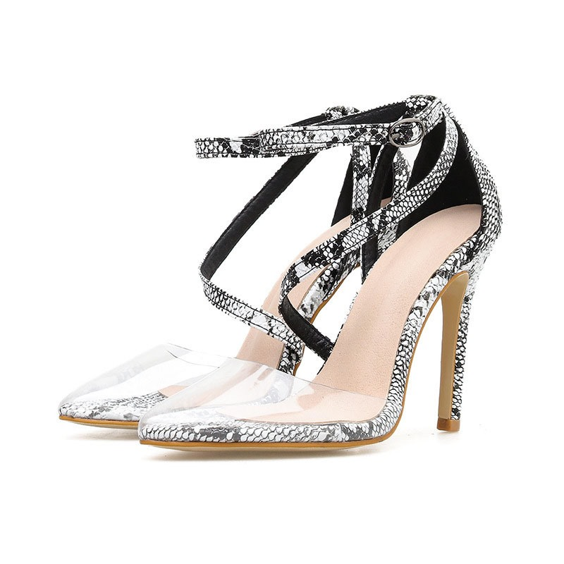 Ericdress Line-Style Buckle Pointed Toe Heel Covering Casual Sandals