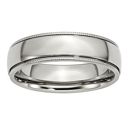 Personalized Mens 6mm Stainless Steel Wedding Band, 13 , No Color Family