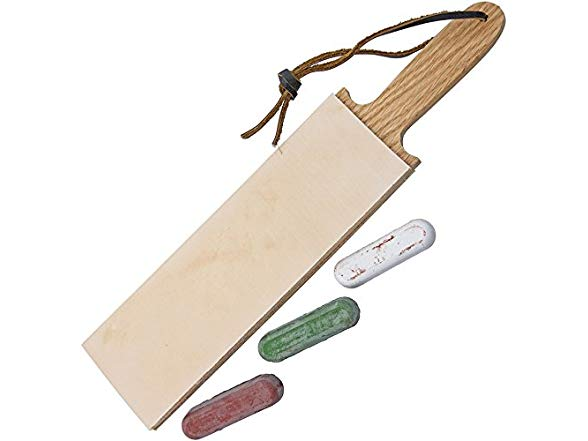 Leather Paddle Strop Double Sided