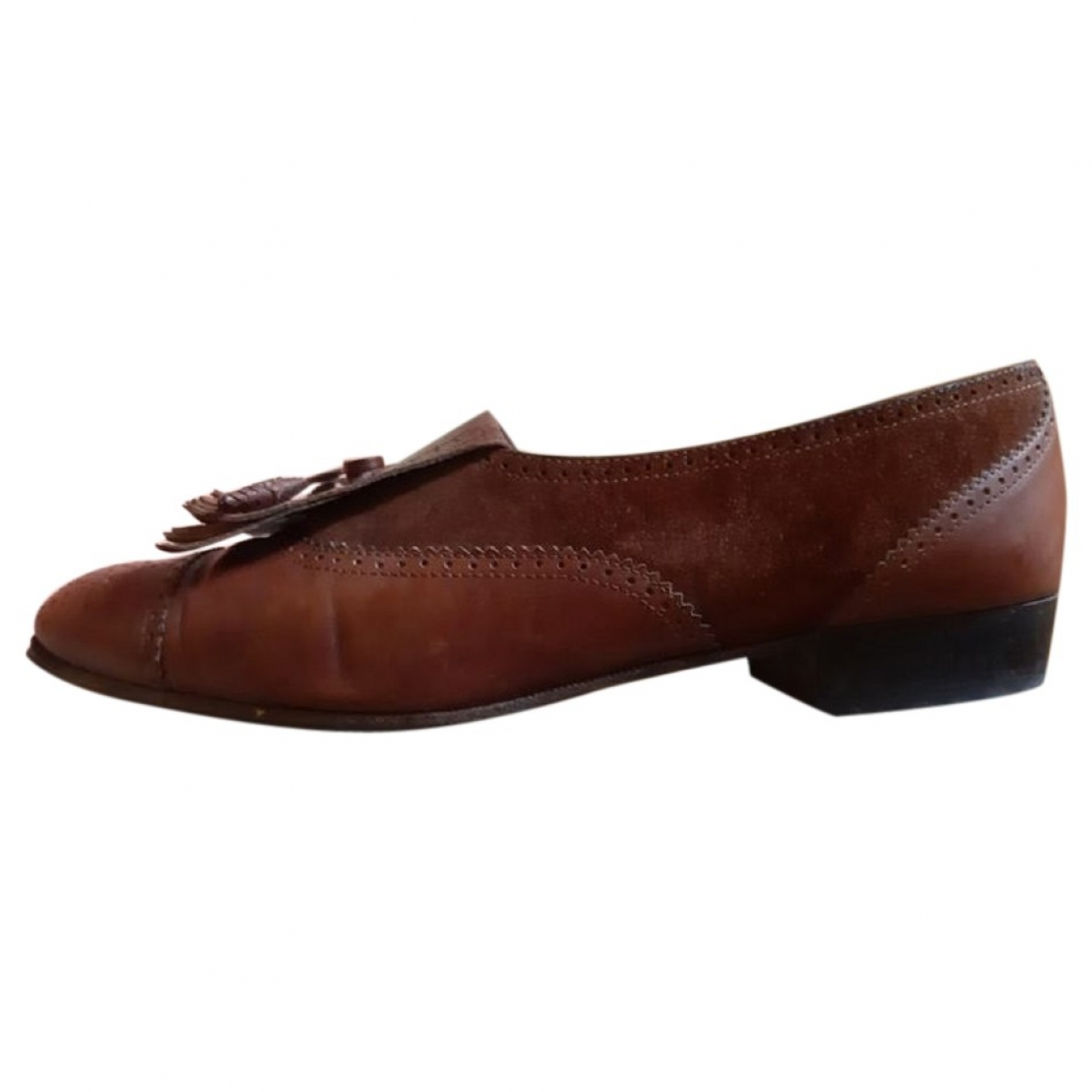 Salvatore Ferragamo \N Brown Leather Flats for Women 39 EU