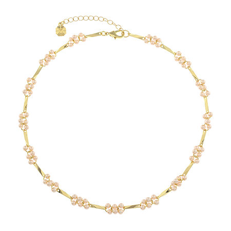 Monet Jewelry 17 Inch Cable Collar Necklace, One Size , Pink