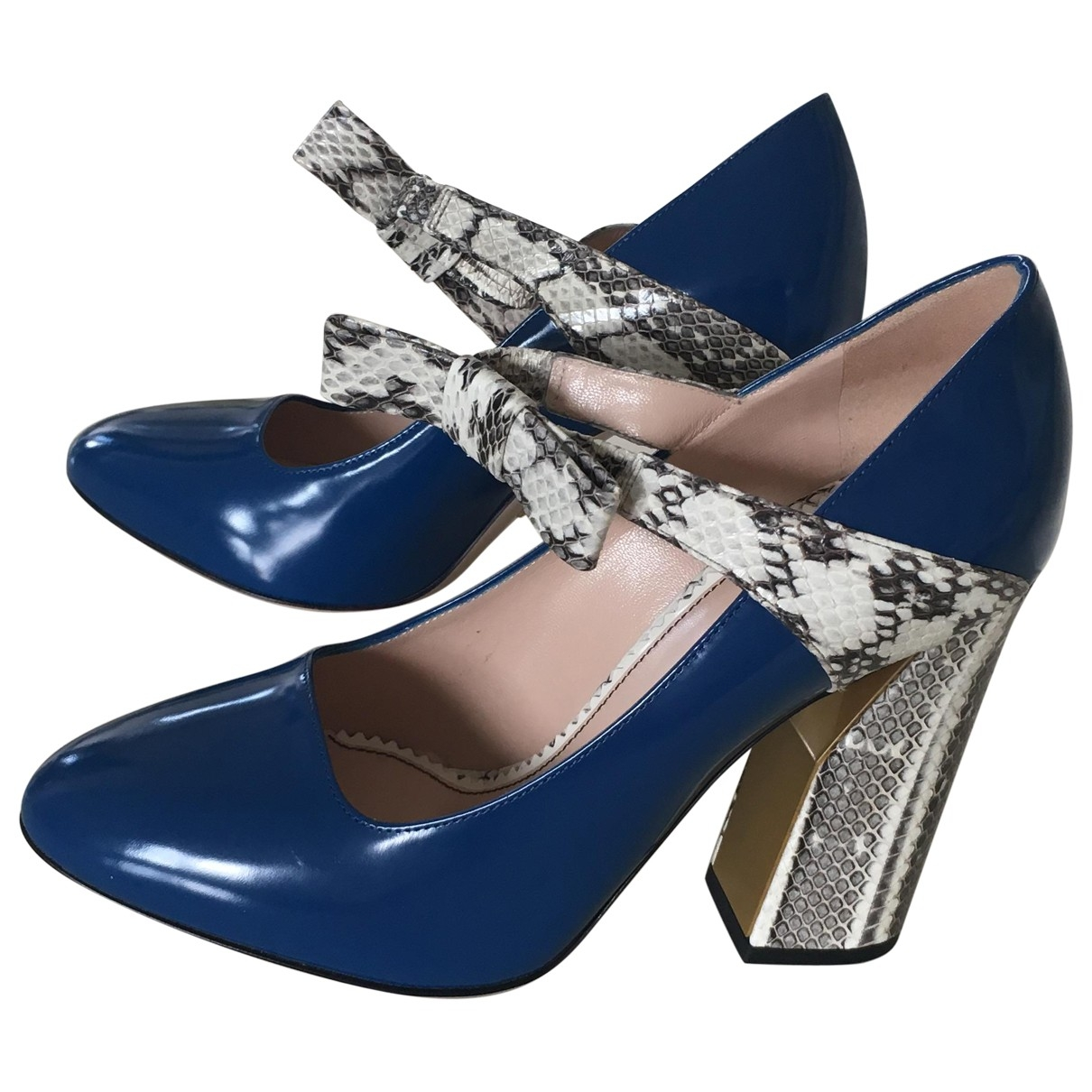 Gucci \N Blue Water snake Heels for Women 39 EU