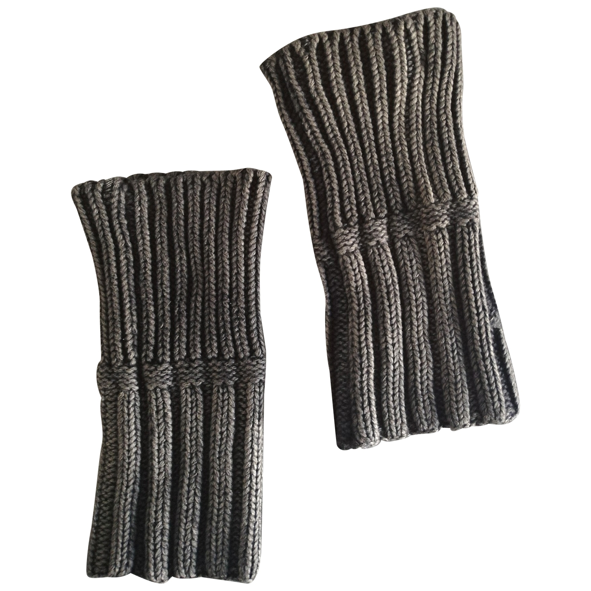 John Galliano \N Grey Cotton Gloves for Men M International